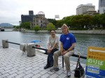 広島平和公園にて。