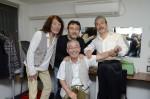 角さんとAKASOの楽屋にて。2011年10月7日。
