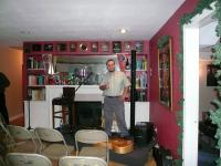 My friend Andy Mckee at a house concert venue in Wichita on 3/16/07. Had a swell time playing together with him!
