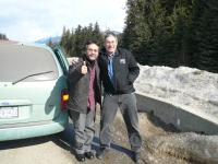 With my tour mate, Don Alder, stretching our legs in the middle of nowhere…