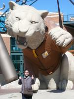 Me and the tiger at Comerica Park, the home of Detroit Tigaers on 3/9/07.