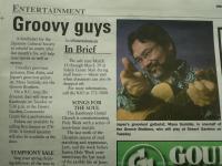 Got a little bit of exposure on a community paper.