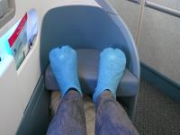On the flight back, I got bumped up to FIRST CLASS!!! What a lucky break!!!