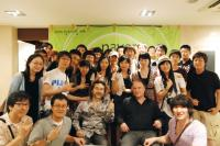 With some fans after the concert at DS Hall, Seoul, Korea on 7/11/09.