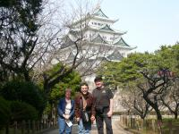At Nagoya Castle on 3/19/09. Bob, Me and bob's wife (from the right). The place is famous for beatiful cherry blossoms, but we were there a bit too early…