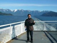 On a ferry to Gibsons, British Columbia, Canada in March 2008.