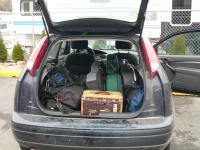 Our little tour car, full of stuff!!!