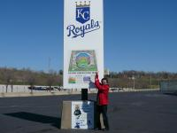 At Kauffman stadium, the home of Kansas City Royals on 3/16/07.